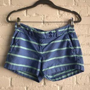Vineyard vines striped blue preppy shorts sZ 0